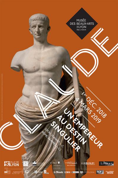 Affiche de l'exposition Claude, un empereur au destin singulier - Musée des Beaux-arts de Lyon
