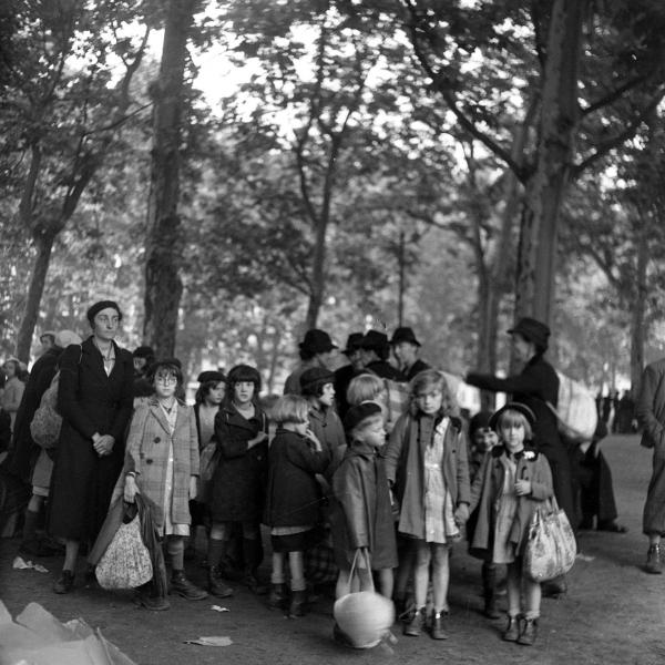 Enfants pendant l'Exode © Emile Rouge / CHRD