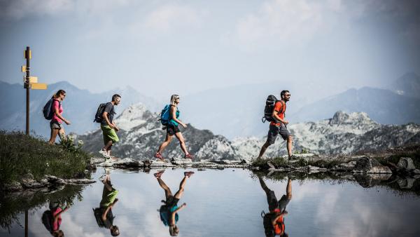 Randonnée dans les Alpes autour des Arcs - Photo Merci l'Agence / Les Arcs