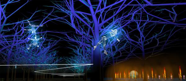 Regarde, par Groupe F - Fête des Lumières 2019 - parc de la Tête d'Or