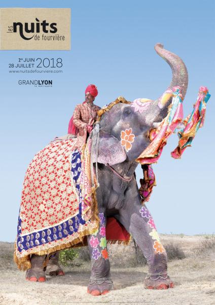 Photo Charles Fréger, Parade, les éléphants peints de Jaipur / Nuit de Fourvière