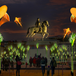 Prairie éphémère by TILT and Porté par le vent - Place Bellecour, The Festival of Lights in Lyon ©