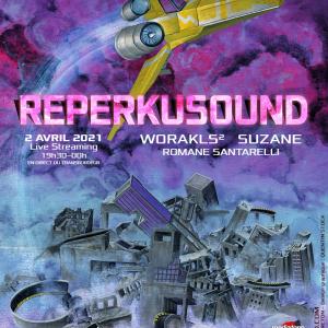 Affiche Reperkusound 2021 / Reperkusound - Artwork : Tristan Perreton - Design graphique : Quentin Stock