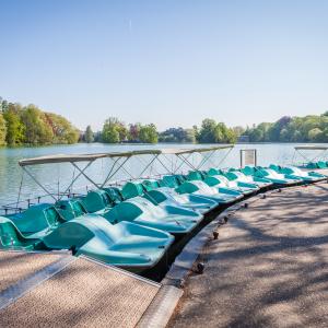 L'embarcadère du Parc de la Tête d'Or