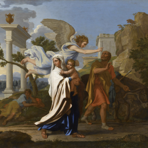 The Flight to Egypt by Nicolas Poussin, Musée des Beaux-arts de Lyon