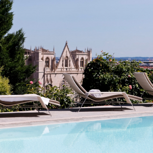 Villa Florentine vue de la piscine © Aubonnet