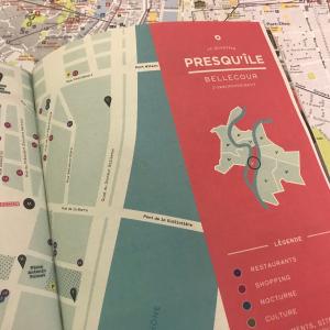 Plan de Lyon et guide touristique Collector © ONLYLYON Tourisme et Congrès